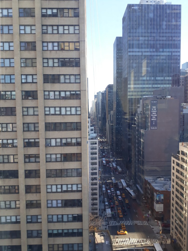 View of streets from Manhattan