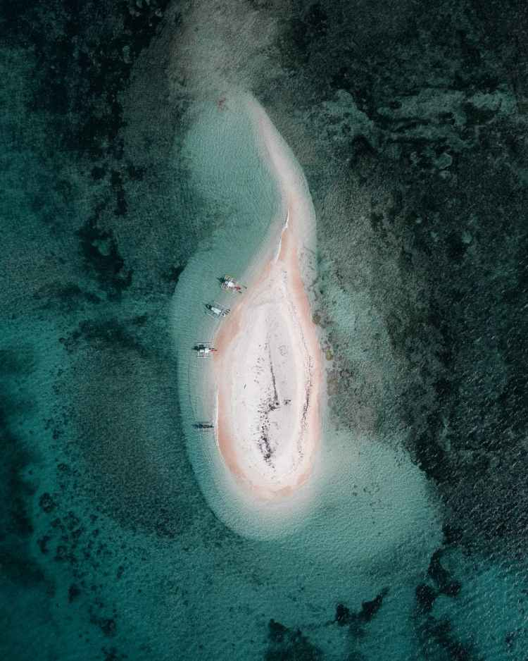 aerial view of sand