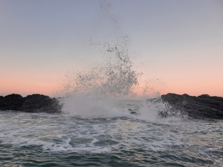 Waves splashing in Balito, South Africa