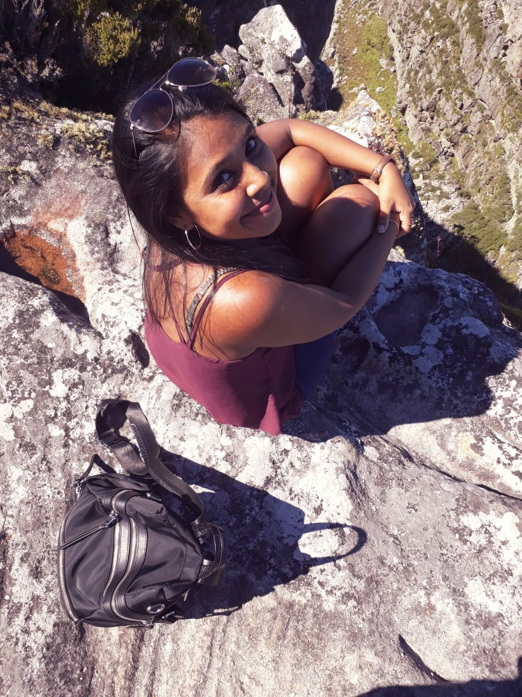 Sitting on Table Mountain, Cape Town