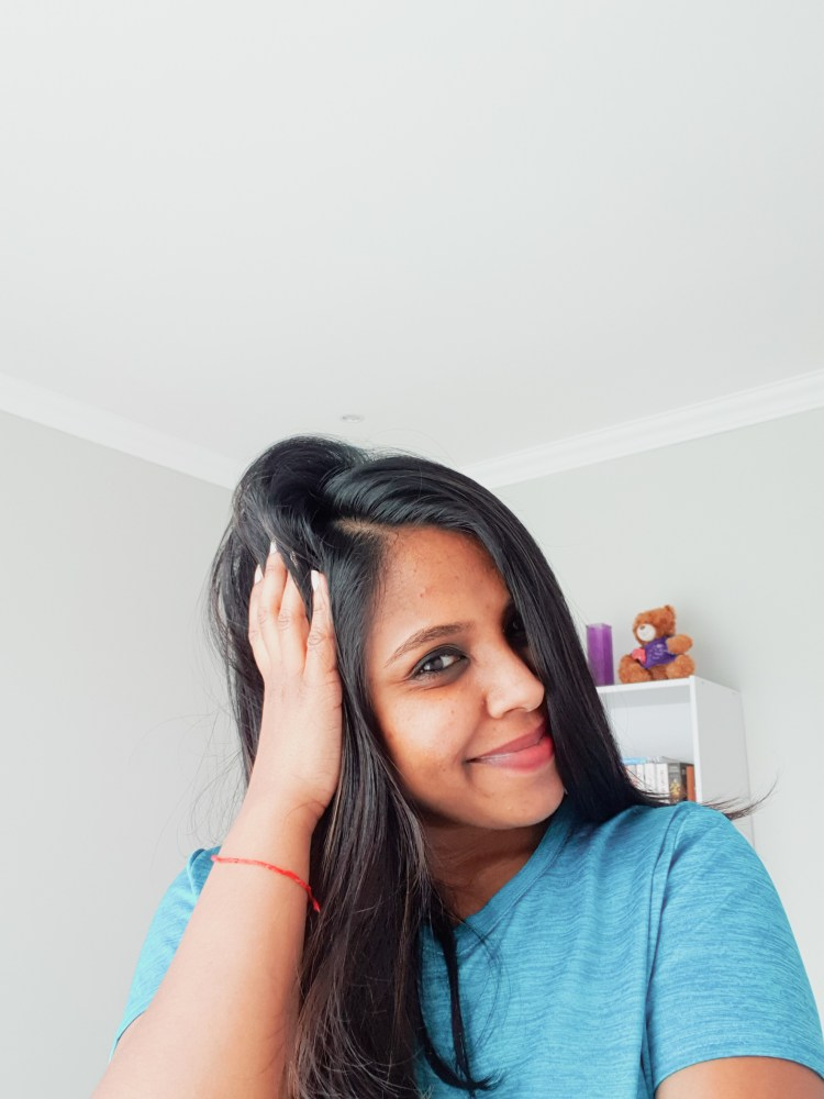 girl in a blue shirt