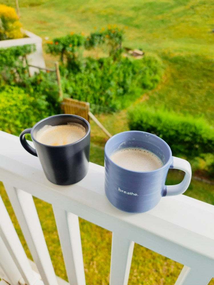 Emberton Estate, mugs on a porch, cappuccino on a balcony, essential coffee terms