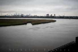 NYC Skyline over Newark Marshes