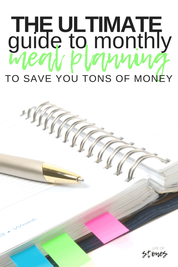 Save lots of money and time when you meal plan and grocery shop for an entire month! Monthly meal planning gives you freedom to enjoy your month instead of having eo do a weekly meal plan every single week!