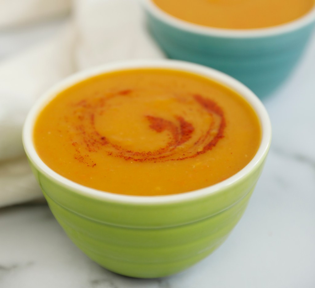 Spicy Butternut Squash Soup is perfect on a cold night.