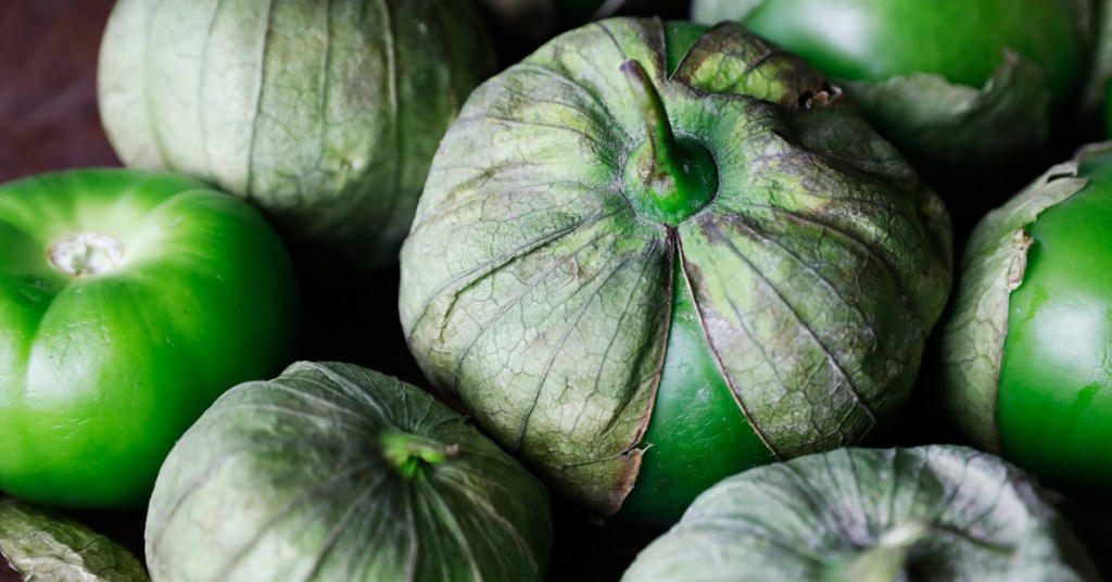 What exactly is a tomatillo?  Tomatillos are a fruit with a tangy flavor that works great in a spicy salsa.