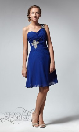 Short-Sweetheart-Blue-Bridesmaid-Dress-with-Single-Strap-DVW0024
