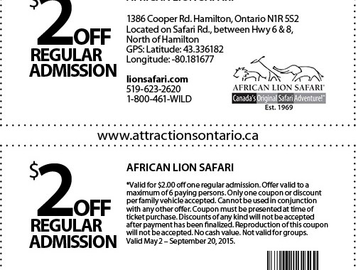 Day Trips Ontario and Attractions Ontario Coupons