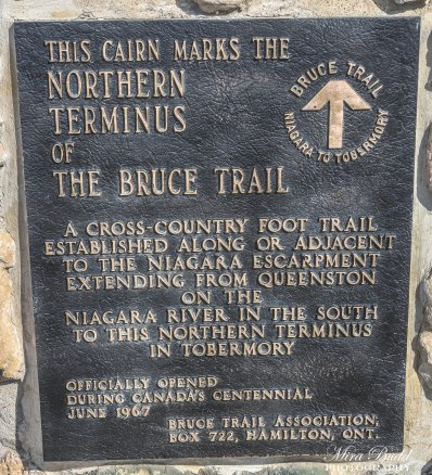 Northern Terminus of the Bruce Trail, Ontario Trails hiking Trails Ontario, Things to See in Ontario, Beautiful Towns in Ontario, Things to See in Tobermory,