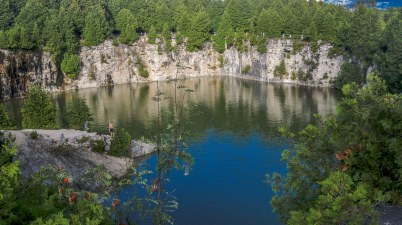 Elora Quarry, Elora Quarry Conservation Area, Beautiful Places in Ontario, Beautiful Towns in Ontario, Hiking Trails in Ontario,