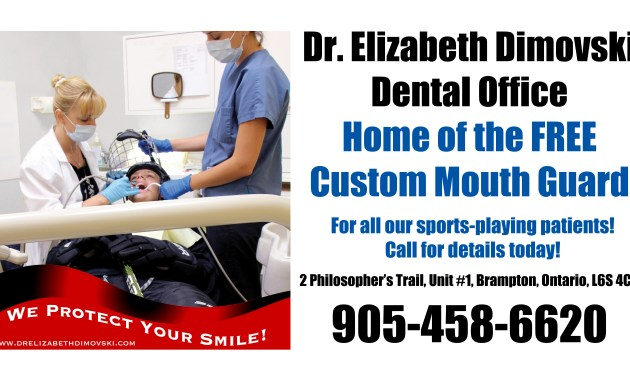 Free Mouth Guards, Dr. Elizabeth Dimovski, Dentists in Brampton Ontario, Discount Dental Services, Caledon Hockey, Dentists in Caledon,
