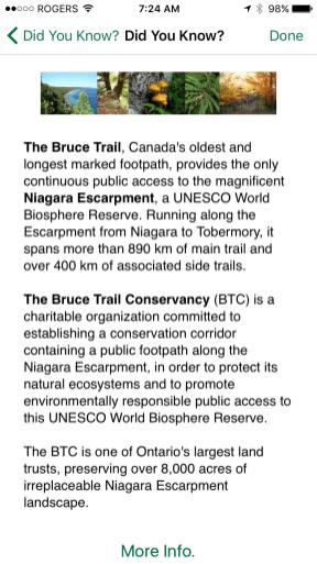 Bruce Trail App
