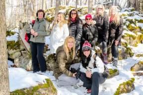 Women Hiking Group, Ontario Hiking Trails, Hilton Falls Side Trail, Bruce Trail Side Trails,
