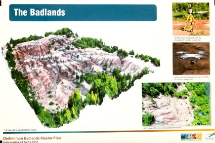 Things to see in Caledon, Places to visit in Ontario, Beautiful Places in Ontario, Red sands, Caledon Badlands,