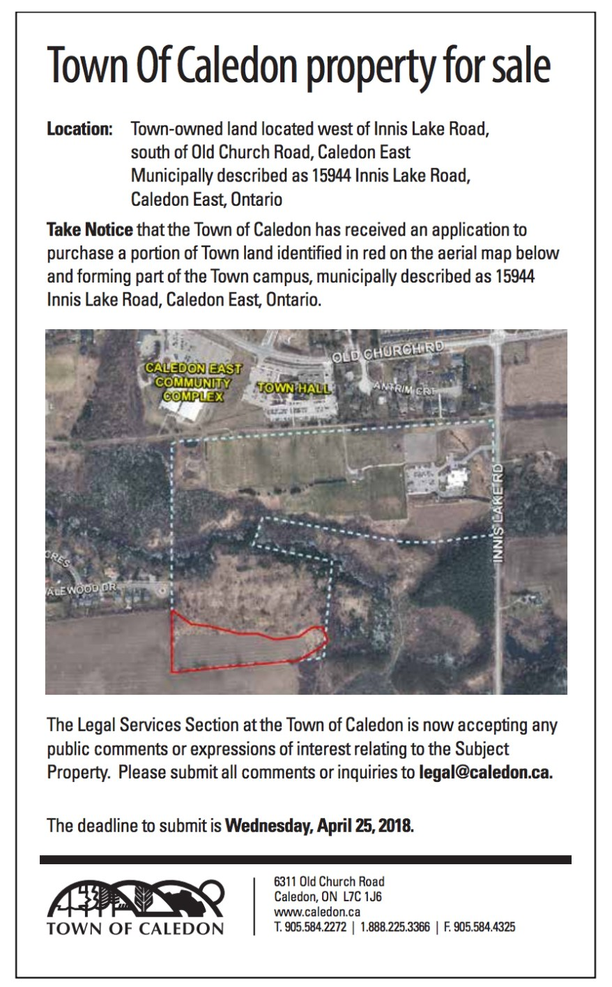 Town of Caledon Property For Sale