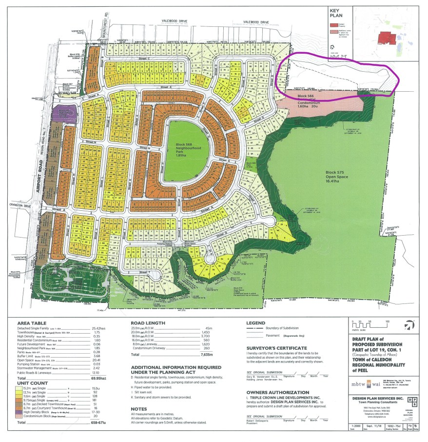 Development Plan Caledon East Airport Road