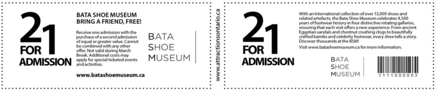 Bata Shoe Museum Coupon