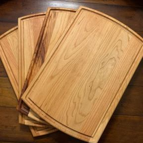 ONE LEFT Maple cutting/serving boards 18 by 12 inches $70 with personalized engraving