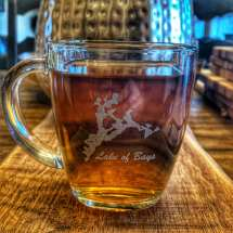 Personalized laser etched square mug. $20 each