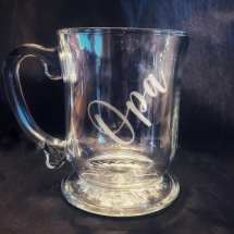 Personalized laser etched mug. $25 each