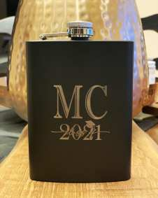 Personalized laser etched flask. $35 each
