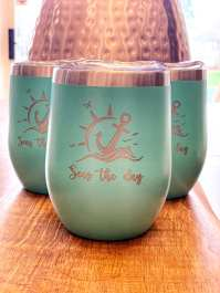 TEAL STAINLESS STEEL TUMBLERS with stainless steel straw and straw cleaner with personalized engraving $40 each (6 available)