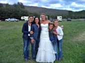 My girls, Erika and I at her wedding.