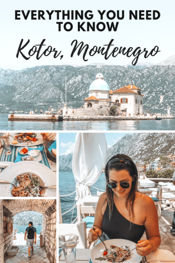 four pictures in Montenegro with overlay text