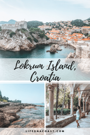 3 pictures of Croatia with overlay text-Lokrum Island