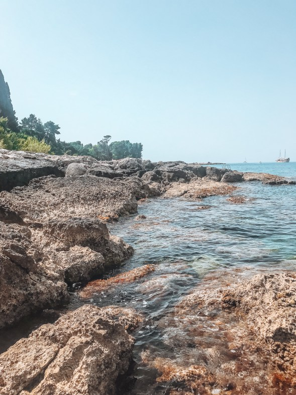 Rocky beach in Lokrum Island