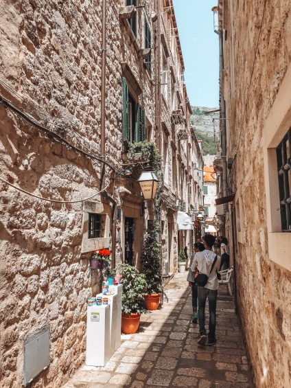 Alleys in the Old Town of Dubrovnik Croatia