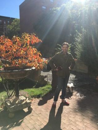 my handsome man volunteering for October Fair