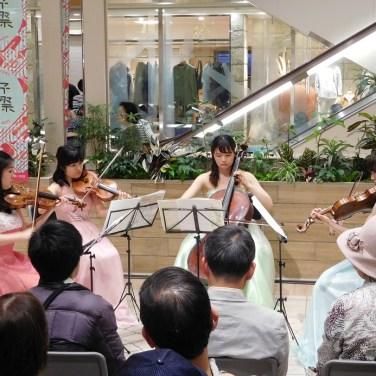 音楽祭にて弦楽四重奏コンサート