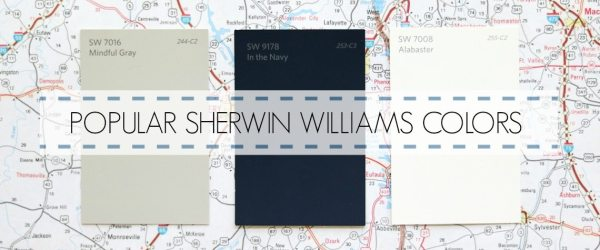 POPULAR SHERWIN WILLIAMS PAINT COLORS