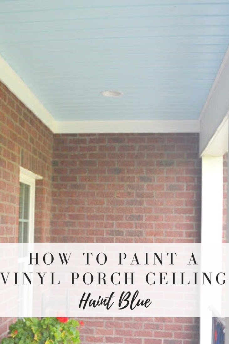 Painted Porch Ceiling - Life on the Bay Bush