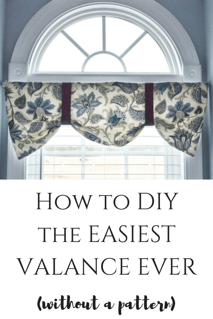 Super easy tutorial on how to make this adorable valance without a pattern! Looks great with arched windows! DIY Curtain Tutorial
