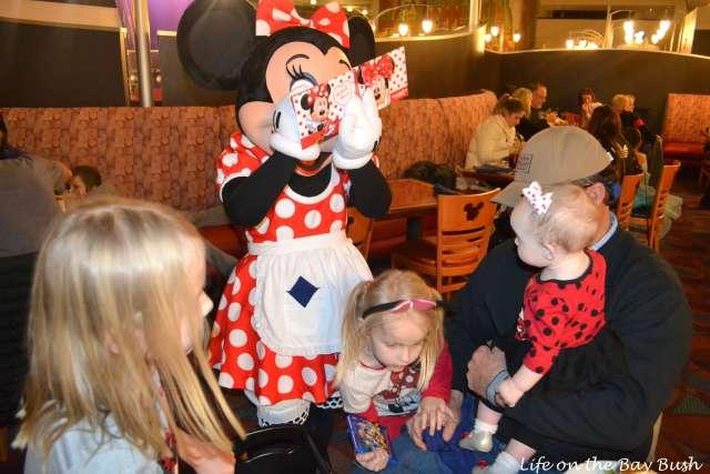 Minnie at Chef Mickeys