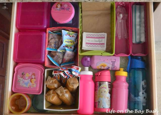 Organizing Lunch Box Stuff