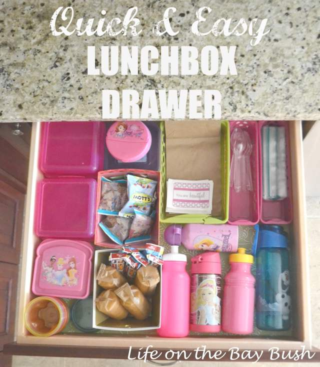 How to Create a Lunchbox Drawer to save loads of time in the morning! A great project to get ready for Back to School!