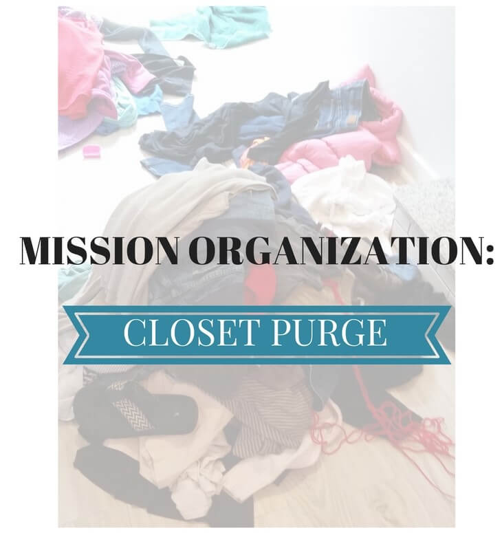 Mission Organization: Closet Rescue – Phase 1 {The Purge}