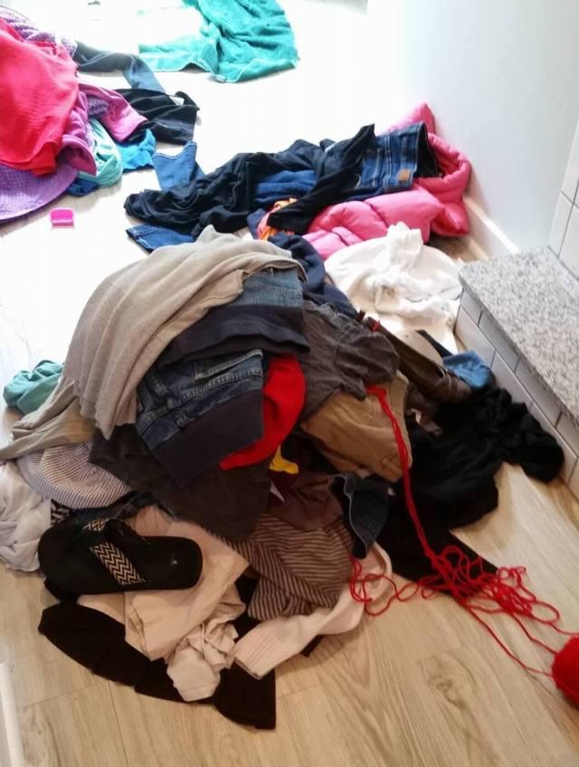 Tori closet purge