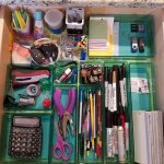 Check out this organized junk drawer! Its so much better than the before version!