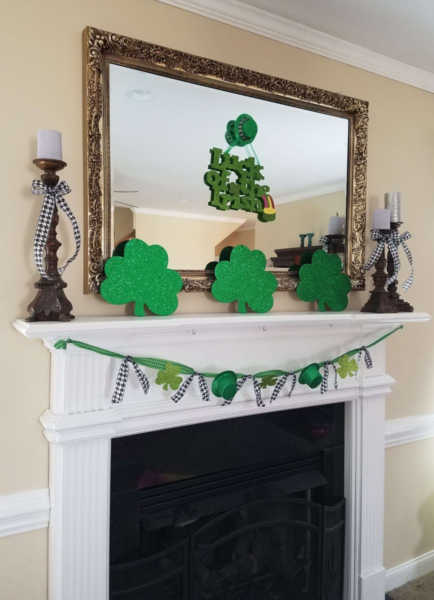 St. Patrick's Day Mantel and Bunting