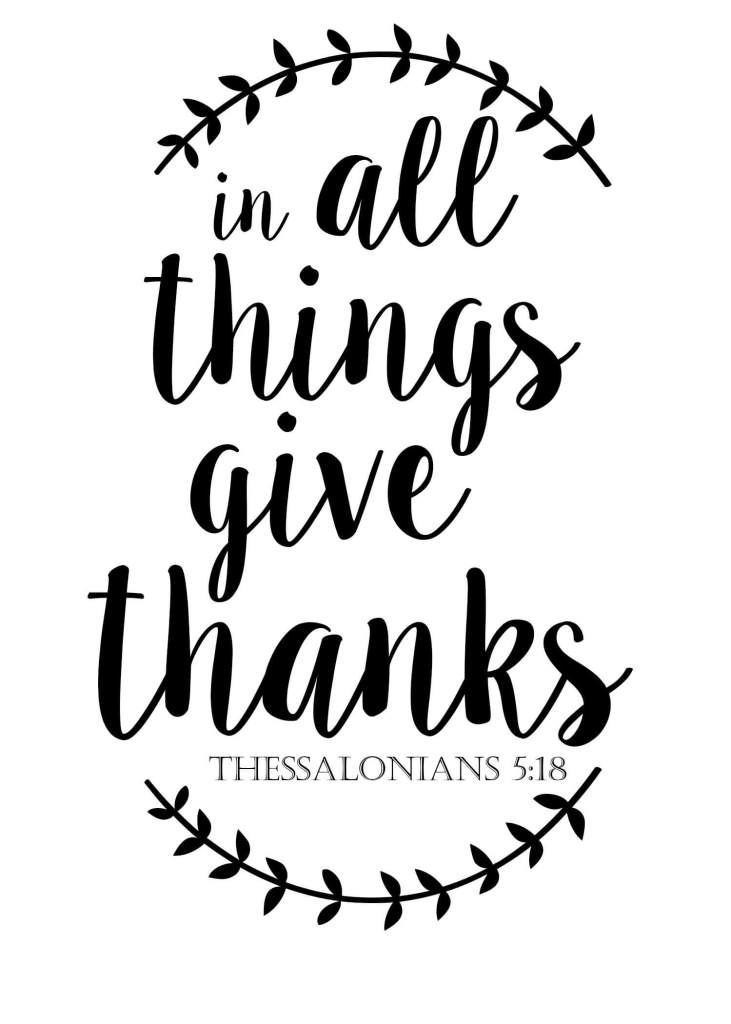 In All Things Give Thanks Free Printable for Fall | Life on the Bay Bush Blog