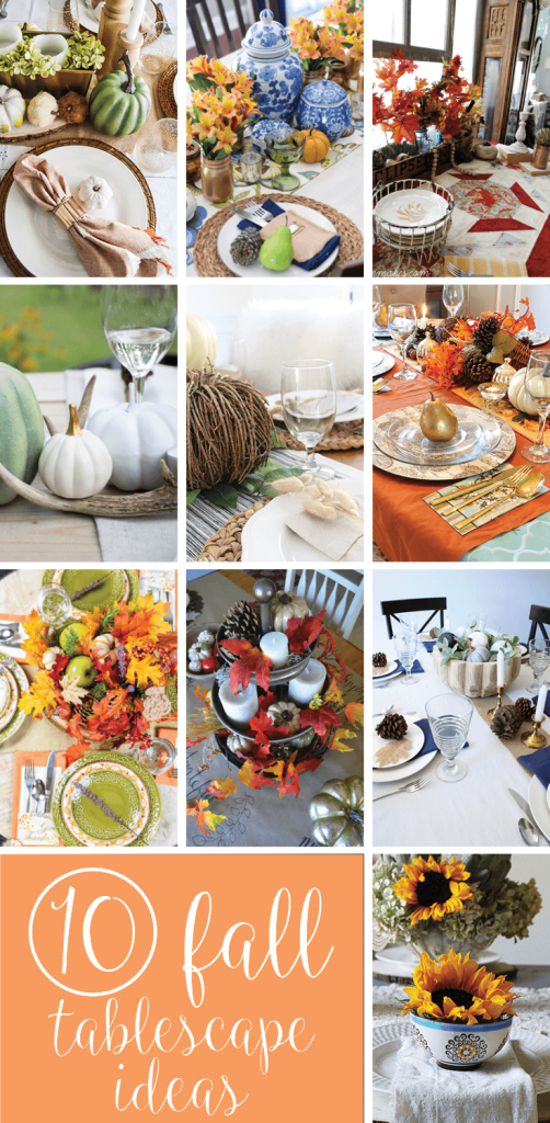 10 Amazing Tablescapes for Fall to create the perfect warm and cozy Fall Table!