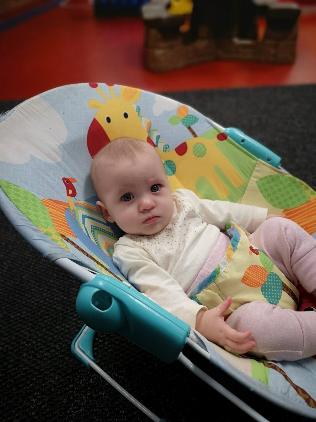 Baby in infant seat