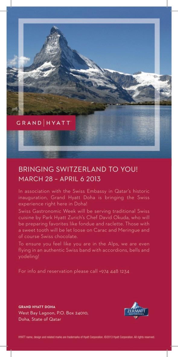 Swiss Gastronomic Week in Doha