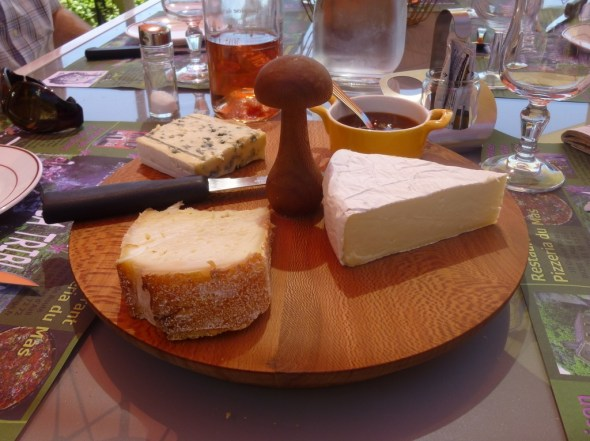 Typical cheese board