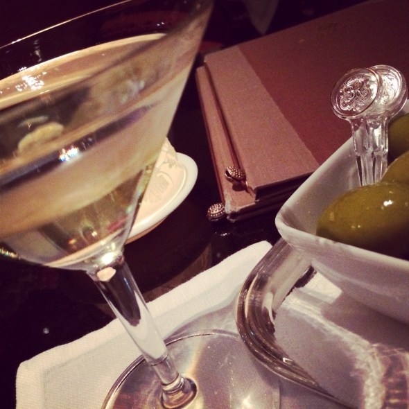 Martini and olives at the st Regis. This would become my nightly ritual