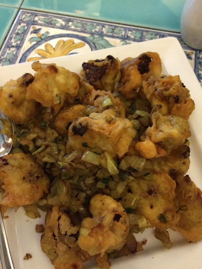 Fried cauliflower at Mum's Kitchen